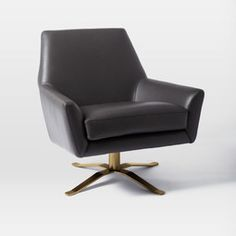 Lucas Leather Swivel Base Chair