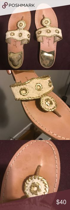 10bac18384d Jack Rogers Sandals Jack Rogers Womeb s Jacks Eyelet dress Sandal. Very  light pink and gold