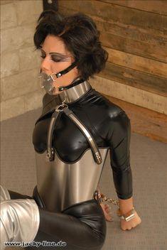 latex on belt bound Missy sybian dress