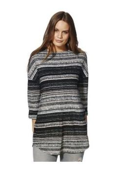 4328896c3d1 F&F Tesco Brushed Striped Tunic Top Size UK 8 LF077 CC 13 #fashion