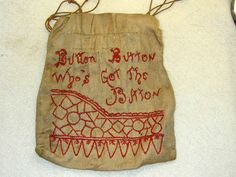 Antique Vintage Button Bag Button Button Who's got the Button | eBay
