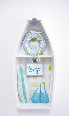 Porta de maternidade quarto surfista