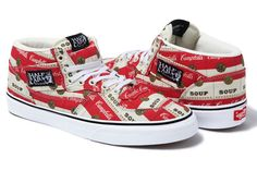 In a nod to New York art luminary Andy Warhol, Supreme, Vans and Campbell's team up to bring his iconic soup cans to life in a new range of kicks and apparel.