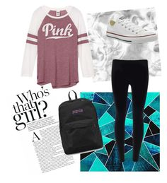 """Valentina"" by julia3smith on Polyvore featuring Converse and JanSport"
