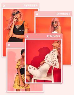No stress dress E-mail Design, Layout Design, Instagram Design, Fashion Graphic Design, Graphic Design Inspiration, Design Typography, Lettering, Gif Fashion, Fashion Boots