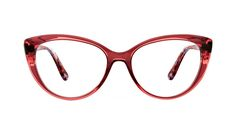 Bliss Pink berry - These colorful cateyes feature soft angles, striking the perfect balance between bold and classic. Pink Eyeglasses, Eyeglasses For Women, Transparent Glasses Frames, Parfait, Style Audacieux, Lunette Style, Prescription Lenses, Material Girls, Affordable Fashion