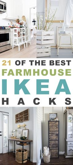 21 of The BEST Farmhouse IKEA Hacks If you love the Fixer Upper Look or the gorgeous furniture at Pottery Barn then you are going to love these Farmhouse DIY Projects. Using IKEA Projects make these very Budget Friendly Projects! Ikea Hacks, Diy Hacks, Diy Décoration, Ikea Furniture, Country Furniture, Farmhouse Furniture, Furniture Stores, Office Furniture, Rustic Farmhouse