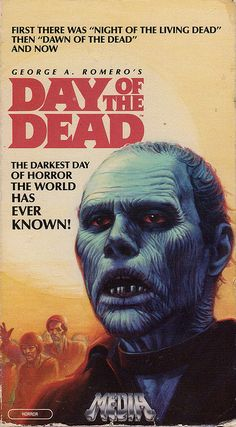 Great VHS cover for the best zombie movie ever made, Day of the Dead