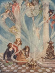 Florence Anderson - Children Releasing Fairies.