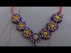 DIY Quilled paper necklace/paper Quilling Jewellery tutorial. - YouTube