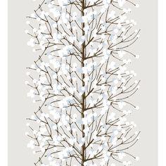 Marimekko Lumimarja Grey / Blue Fabric  $43.00