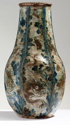 Decorated by Edwin Martin late 1800s  The Martin Brothers Stoneware Pottery 1873 - 1915