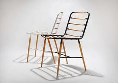Geek is a minimalist design created by Singapore-based designer Munkii. The chair is constructed of steel with a matte coated finish, and solid wood maple rods that intersect the seat and back rest.