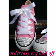 793452c25671 Customised Pink Converse All Star with Swarovski Crystals from  Added-Sparkles