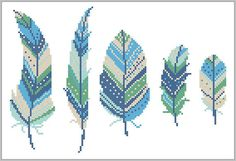 BOGO FREE Feather cross stitch pattern Tribal Boho Modern