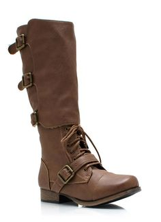 Buckling Up Faux Leather Boots TAUPE