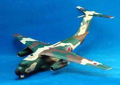 Kawasaki C-1 Military Transport Free Aircraft Paper Model Download