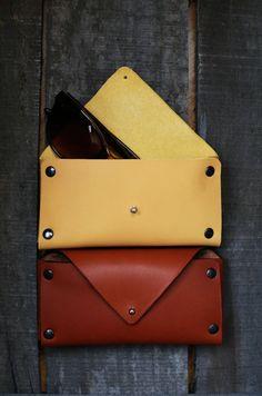 Leather sunglasses case Italian leather case by DovileBDesign
