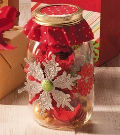 Snowflake Ornament Mason Jar at Joann.com