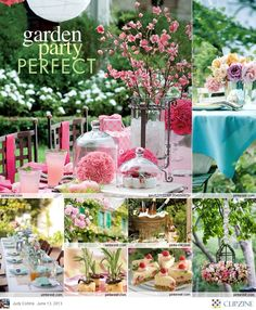 Garden Party - like the pink themed idea setting