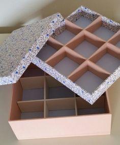 Caixa revestida em tecido
