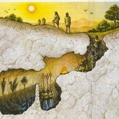 """Ego is a rat on the sinking ship of being.: """"Mito della caverna""""del filosofo Greco Platone...."""
