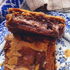 Sveriges härligaste Bakblogg Blondie Brownies, Sugar Candy, Fika, Dessert Recipes, Desserts, Blondies, Let Them Eat Cake, Nutella, Food And Drink