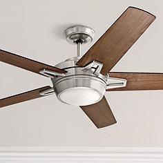 "54"" Emerson Southtowne Brushed Steel Ceiling Fan"