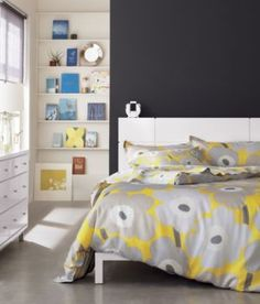Marimekko Pieni Unikko Yellow Sheet Sets in Bed & Bath