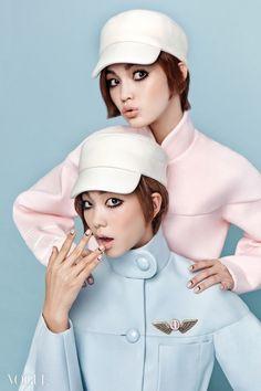 "koreanmodel: "" Han Eu Ddeum and Lee Hojeong by Cha Hye Gyeong for Vogue Korea November 2014 """