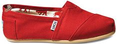 Toms Womens Classics Red Canvas 001001B07-RED Womens 6.5 - Toms sneakers for women (*Amazon Partner-Link)