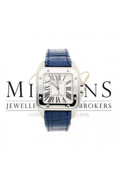 cf5a18602886c Cartier Mens Pre Owned Santos 100 model 2656