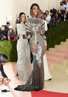 Pin for Later: These Looks Prove That Models Treat the Met Gala Like the Fashion Oscars Jourdan Dunn In Balmain.