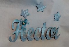 Nombre de madera decorado + estrellas