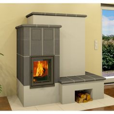 Stove Fireplace, Fireplace Design, Cute Apartment, Rocket Stoves, Foyer, New Homes, Sweet Home, Home Appliances, House Design