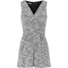 Sleeveless v-Neck Playsuit by Wal G ($51) ❤ liked on Polyvore featuring jumpsuits, rompers, black, sleeveless rompers, party rompers, topshop rompers, sleeveless romper and wrap romper