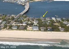 Wyspa na terenie Mantoloking w New Jersey przed i po Sandy.  Fot. USGS http://tvnmeteo.tvn24.pl/foto/swiat,27,4.html