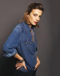 Celine Sallette - Denim & Rouge x Creative Makeup, Alexa Chung, Feature Film, Film Movie, Portrait, Costume Design, Celebrity Crush, Chambray, Sombreros