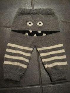 *Siljes kreative gleder*: Nye monsterbukser! en med og en uten eier.. Baby Barn, Baby Knitting Patterns, Knit Crochet, Children, Funny, Dresses, Fashion, Vestidos, Baby Boy Knitting