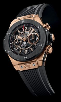 Marking its partnership with Ferrari, Hublot created three stunning limited editions of Big Bang watches. Amazing Watches, Beautiful Watches, Cool Watches, Dream Watches, Fine Watches, Ferrari Watch, Hublot Classic, Herren Chronograph, Hublot Watches