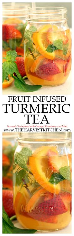 This Fruit Infused Turmeric Tea is loaded with anti-inflammatory and antioxidant properties that helps to reduce inflammation aid digestion promotes healing and gives your immune system a good boost. How can I drop 20 pounds fast? Smoothie Drinks, Detox Drinks, Healthy Smoothies, Healthy Drinks, Healthy Lemonade, Healthy Life, Healthy Eating, Healthy Detox, Harvest Kitchen