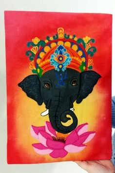 Student: YSB #culture #machineembroidery #elephant #indian #pattern #applique #textileart #fabricpaint