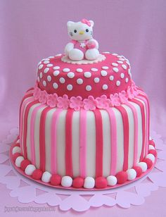 Hello Kitty cake by Cakes by Pixie Pie, via Flickr