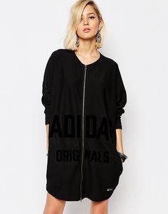 Adidas Originals - Regista - Robe zippée avec logo ton sur ton