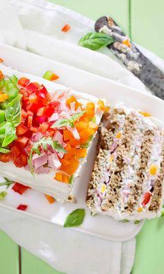 Voileipäkakku | Maku Savoury Cake, Tuna, Fish, Meat, Cakes, Food And Drinks, Cake Makers, Pisces, Kuchen