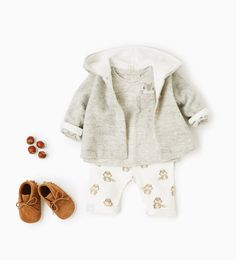 Organic cotton squirrel outfit from Zara: http://www.stylemepretty.com/living/2016/08/04/these-itty-bitty-baby-outfits-are-the-cutest-thing-youll-see-all-week/