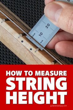 Guitar Action - What's a Good String Height? How to measure your guitar's string height, or action, as well as a list of average measurements for low, medium, and high guitar action. Music Theory Guitar, Guitar Chords For Songs, Guitar Chord Chart, Guitar Diy, Music Guitar, Guitar Lessons, Guitar Tabs, Acoustic Guitar Amp, Art Music