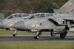 Royal Air Force Panavia Tornado GR4 ZA600-EB-G 'APOLLO1' & ZA607-EB-X 41(R)TES 'APOLLO2' - RAF Coningsby Pairs departure