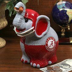 Alabama Crimson Tide Thematic Elephant Bank
