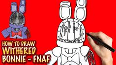 How to draw Withered Bonnie FNAF - Easy step-by-step drawing lessons for...